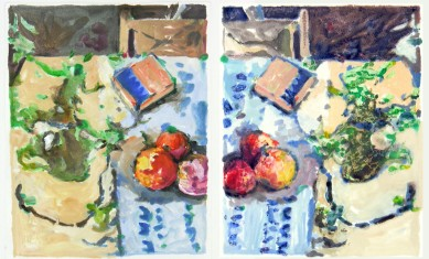 Still Life MonoType Dyptic