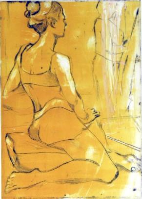 Dancer Resting | DryPoint