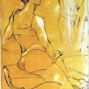 Dancer Resting | DryPoint