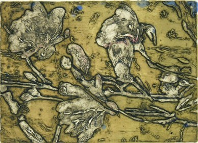 Dogwood Blooms monoprint