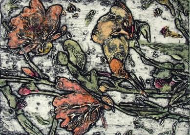 Dogwood Blooms monoprint 3