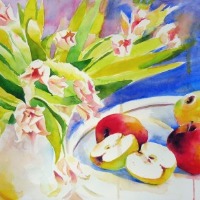 Tulips and apples too