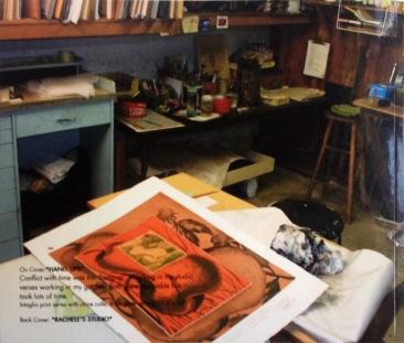Rachele's Studio, a book, back cover